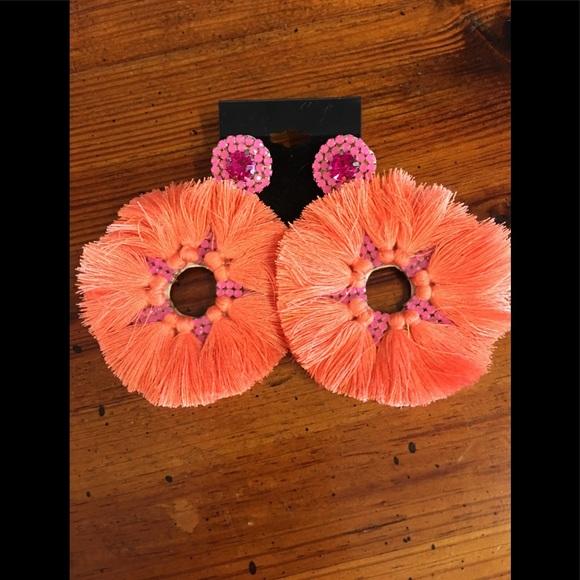 51b857a88 Treasure Jewels Jewelry   Fiesta Earrings In Pink Orange   Poshmark